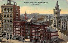 Buffalo New York 1914 Postcard Corner Niagara and Franklin Street