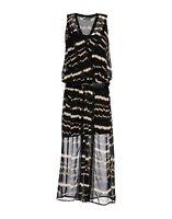 NEW SINEQUANONE CHIFFON BOHO ANIMAL PRINT MAXI LONG DRESS Lace Size 38 M ZARASOS