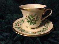 Lenox Christmas Holiday Dimension Tea / Coffee Cup and Saucer