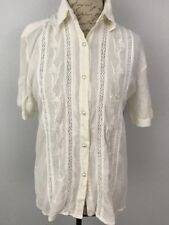 Ladies Ivory Blouse by Laura & Jayne Collection, size Medium