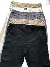 Lot Of 5 Men's Pants Plus Size 52 Khakis Cargo Pants Jeans Denim 52/30 52B/34