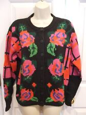 NWT GALLAGHER BLACK ROSE Cardigan  Sweater/ JACKET  SMALL