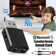 Adaptador Bluetooth USB V5.0, 3-en-1 Receptor Bluetooth y Transmisor AUX Coche