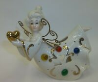 Stunning Ganz Jeweled Heart Angel Candle Holder - EUC