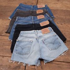 Womens Vintage Levis Shorts Denim 501 Grade B High Waisted Size 6 8 10 12 14 16