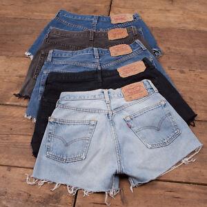 Womens Vintage Levis Shorts Denim 501 Grade B High Waisted Size 6 8 10 12 14 16