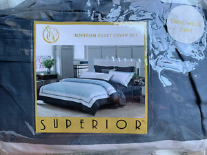 SUPERIOR Full / Twin/ Size Duvet Cover Set 400 Thread Count 100% Egyptian Cotton
