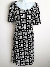 JESSICA BLACK WHITE CHECKER PLAID SHORT SLEEVE KNEE-LENGTH SHEATH SHIFT DRESS XL