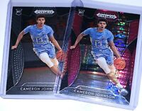 CAMERON JOHNSON 2019-20 PANINI PRIZM PINK PULSAR SP + BASE (RC) LOT OF 2 - SUNS