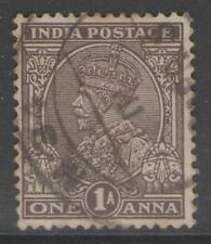 INDIA SG234 1934 1a CHOCOLATE USED