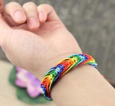 LGBT Bracelet, Rainbow Bracelet, Pride Woven Bracelet