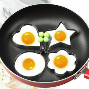 Frying Pan Fried Egg Stainless Steel DIY Pancake Cooking Ring Mould Shaper Mold
