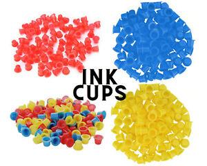 Ink Tattoo Cups Pigment microblading pots holder caps colour makeup 100pcs UK