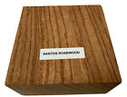 Beautiful SANTOS ROSEWOOD TURNING WOOD, BOWL BLANKS LATHE, BLOCK SIZE: 6 x 6 x 2