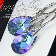 Pendientes de gancho de plata esterlina 925 16 mm Pera/Almendra cristales de Swarovski ®
