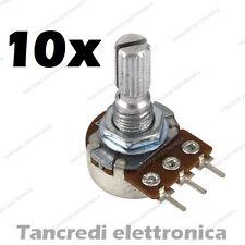 10x Potenziometro 10K Monogiro Lineare Trimmer - Potentiometers B10K perno 15 mm