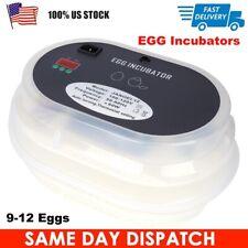 12 Eggs Fully Automatic Incubator Digital Poultry Hatcher Egg Turning Led Lamp