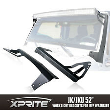 Xprite 52 Inch LED Work Light Bar Top Mounting Bracket 07-17 Jeep Wrangler JK