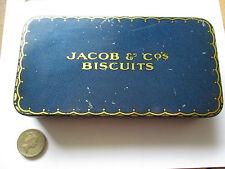 JACOB BISCUITS ADVERTISING SAMPLE TIN