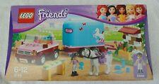 LEGO Friends EMMA'S HORSE TRAILER 3186 Brand New Robin Pony 2012 Rare Retired