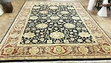 HAND-KNOTTED TURKISH OUSHAK KHOTAN PISHAWAR TRIBAL WOOL DURABLE RUG 9' X 12'*