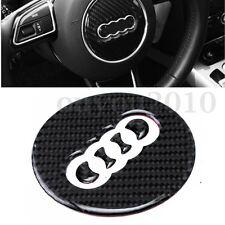 Carbon Fiber Steering Wheel Insert Badge Emblem Sticker for Audi A3 A7 S7 Q7 Q3