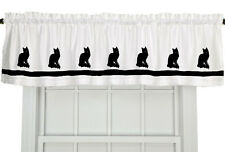 Turkish Angora Cat Window Valance Curtain in Your Choice of Colors