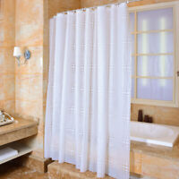 White Ball Pattern  Bathroom Waterproof Shower Curtains with Plastic Hooks