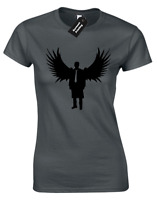 SILHOUETTE OF CASTIEL LADIES T-SHIRT SUPERNATURAL WINCHESTER SAM DEAN BROTHERS