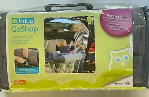 Brica GoShop Baby Shopping Cart And High Chair Cover Grey Munchkin NEW