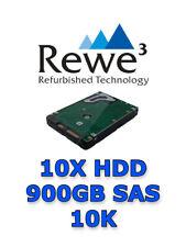 10x HDD 900 GB 2,5'' SAS 10K 6Gb/s