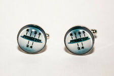 Luxury Laser Engraved Gear box Cuff-links & Tie Clip Set All Occasion