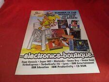Electronics Boutique Summer Catalog Sega Genesis Game Boy SNES EB Promo Catlog