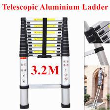 3.2M 10.5FT Telescopic Aluminium Alloy Ladder Extension Extendable Step