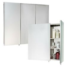 2 Or 3 Door Stainless Steel Wall Mounted Mirror Bathroom Cabinet Hang N Lock NEW