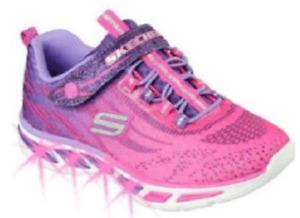 Skechers S Lights Litebeams Kinder Schuhe Sneaker Turnschuhe 10667L (Pink-HPPR)