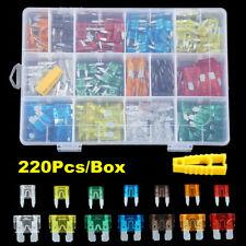 220Pcs Mini Standard Blade Fuse Assortment Auto Truck Car Assorted Fuses ATM APM