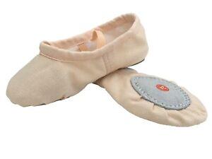 Ballet Dance Gymnastic Yoga Shoes Split Sole Pink