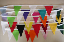 Multi coloured  MINI Fabric Bunting Party  Bedroom  Decoration 5mt  =  30 flags