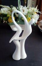 Large 34 cm Modern Design White  Dancing Couple Ceramic Ornament Home Decor Gift