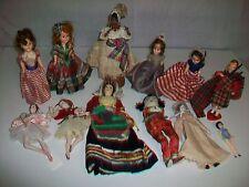 Lot 12 Vintage Dolls Some Sleep Eyes Nurse Scottish Some Cloth