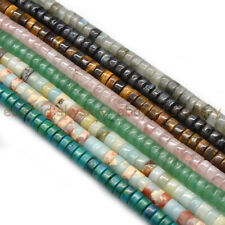 Natural 2x4mm Smooth Heishi Tyre Rondelle Spacer Gemstone Loose Beads 15''