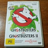 Ghostbusters 1 + 2 The Ultimate Collector's Pack DVD R4 Like New! FREE POST
