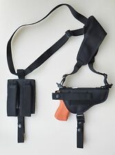 Gun Shoulder Holster for TAURUS PT940, PT945 WITH Double Magazine Pouch
