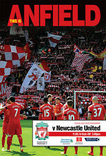 LIVERPOOL v NEWCASTLE 2013/14 MINT PROGRAMME 2014
