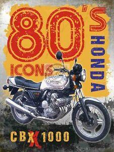 Vintage Garage,Honda CBX, Motorcycle,Motorbike,80's Retro,Small Metal Tin Sign