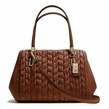 Coach Madison Gathered Chevron Leather Madeline East/West Satchel 25985 Chestnut