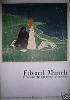 Edvard MUNCH Affiche en Lithographie Mourlot Los Angeles Muséum 1969