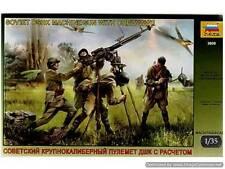 KIT ZVEZDA 1:35 SOLDATINI SOVIET DSHK MACHINEGUN WITH CREW WWII  3609