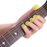 12 Guitar Finger Protect Fingertip Picks Silicone Guard Plectrum Bass Ukulele #